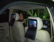 Fourways Car Security & Sound DVD Headrest Set