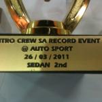 Fourways Car Security & Sound Nitro SA Record Sedan 2nd Place Award