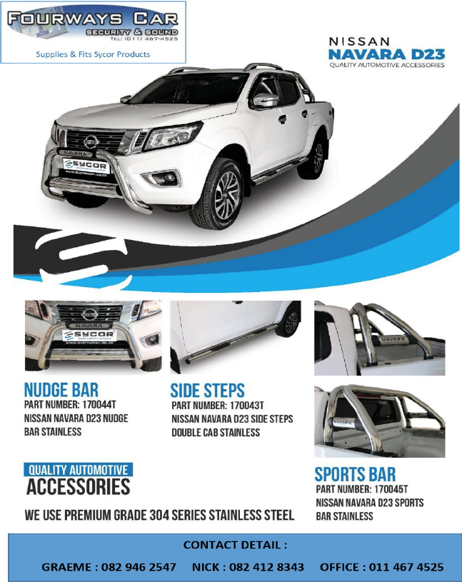 Vehicle Accessories - Fourways Car Security & Sound